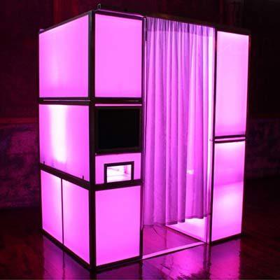 Fotohokje huren LED Roze