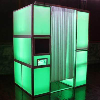 Fotohokje huren LED Groen