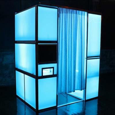 Fotohokje huren LED Blauw